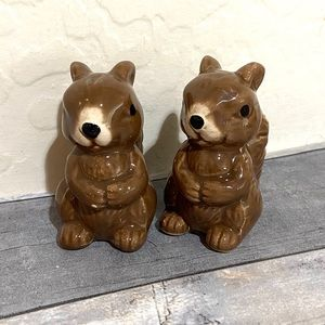Brown Squirrel Salt and Pepper Shakers